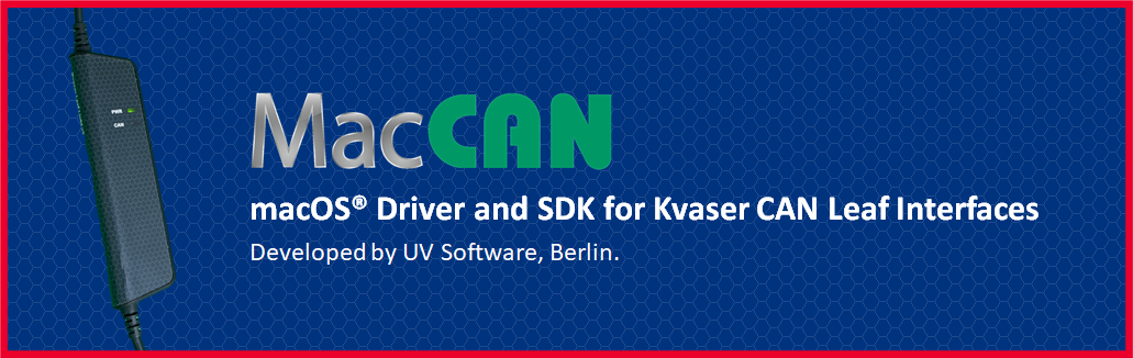 macOS® Driver and SDK for CAN Leaf Interfaces from Kvaser